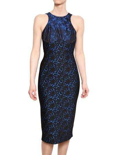 STELLA MCCARTNEY WOOL JACQUARD ON STRETCH VISCOSE DRESS Fashion Fall Winter 2013-14