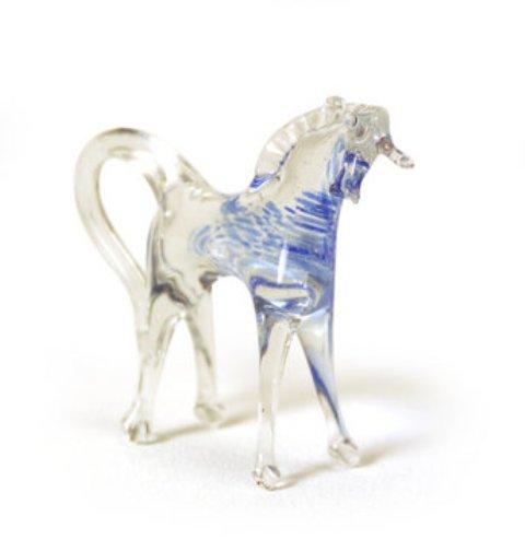A glass horse