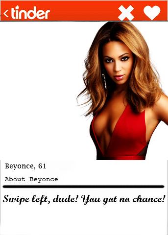 Beyonce Tinder bio