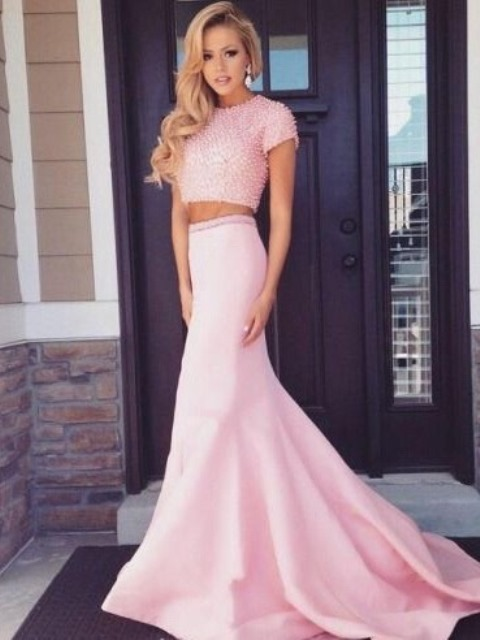 crop top and flared skirt