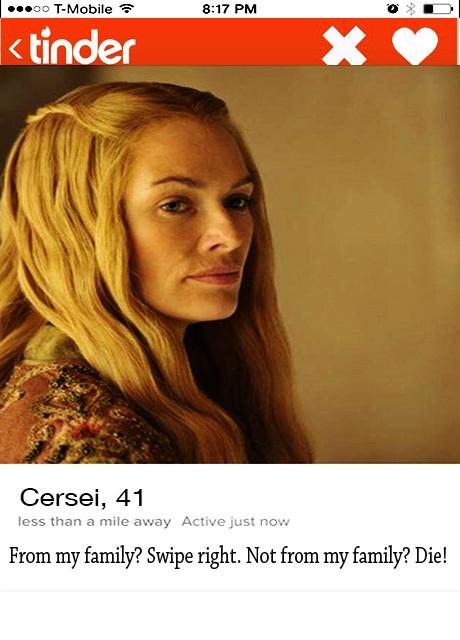 Cersei_Tinder profile