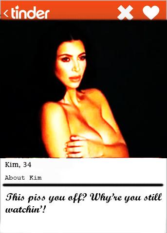 Kim K Tinder bio
