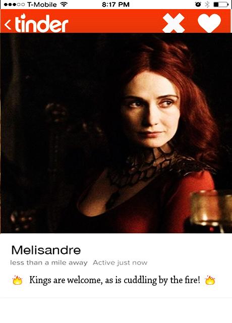 Melisandre_Tinder profile