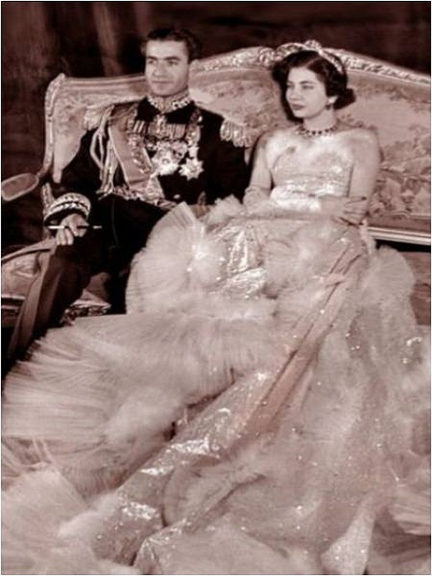 Queen Soraya and Shah Mohamed Reza Pahlevi