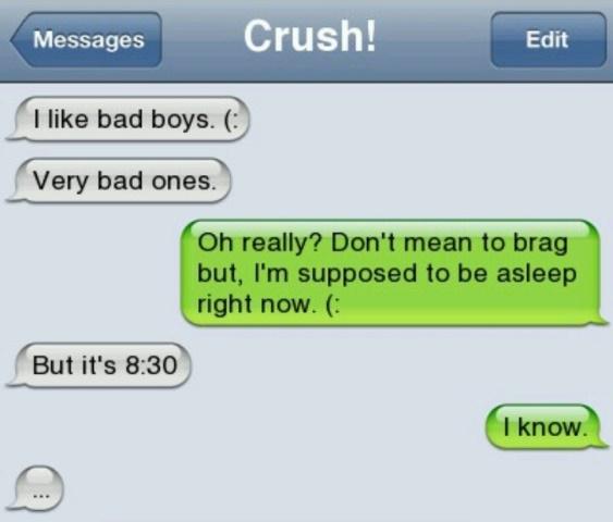 bad boy text