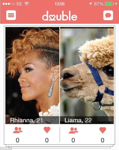 dating app double trolled_rihanna