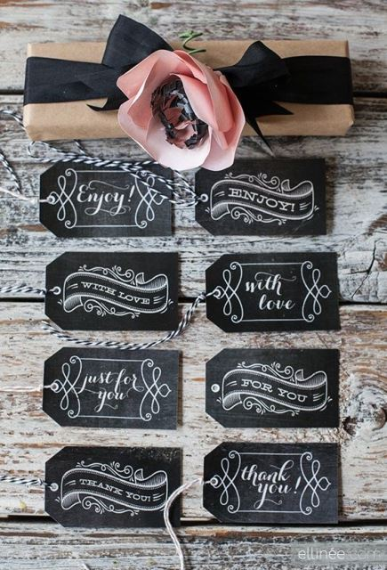 fall favor chalkboard tags