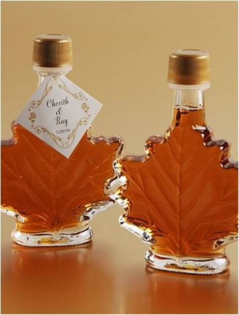 fall favor fall shaped maple syrup