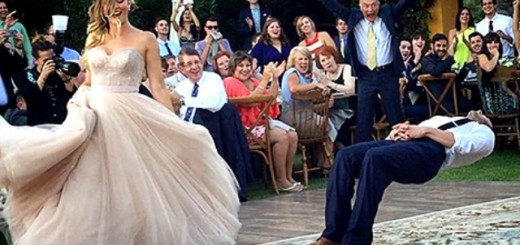magician groom levitating dance move