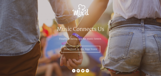 mix'd dating app home page