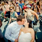 3000 Nude Cyclists Photobomb This Couple's Pre-wedding Photos!
