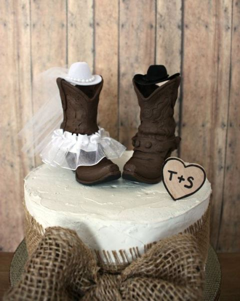 rustic boots topper