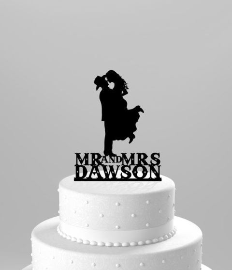 rustic cowboy and girl topper