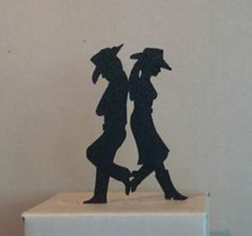 rustic cowboy couple topper