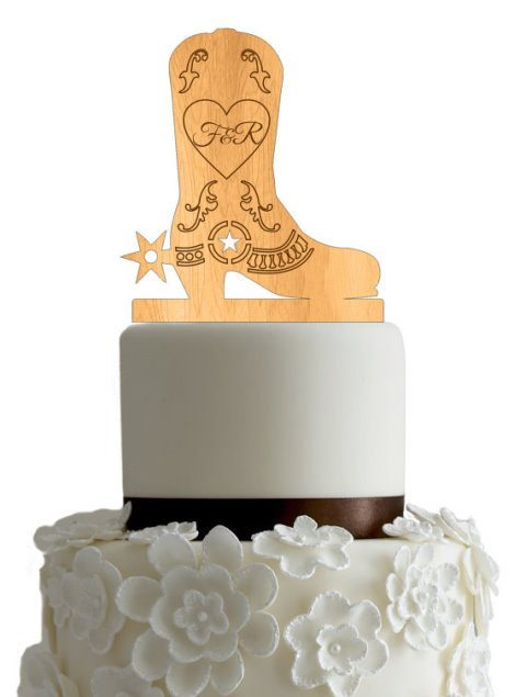 rustic cowboy style topper