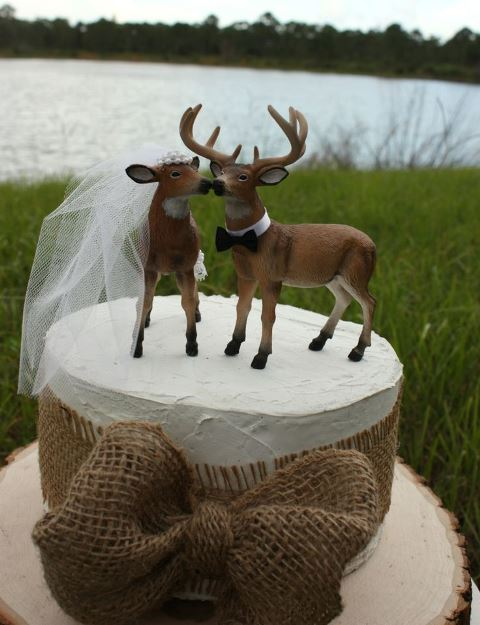 rustic doe and buck topper