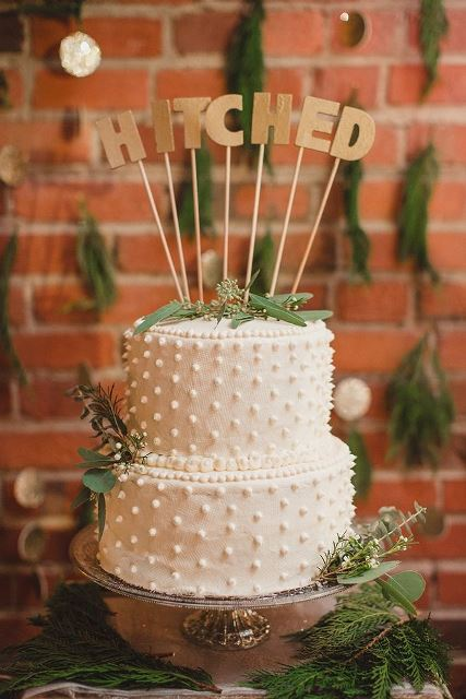rustic hitched topper