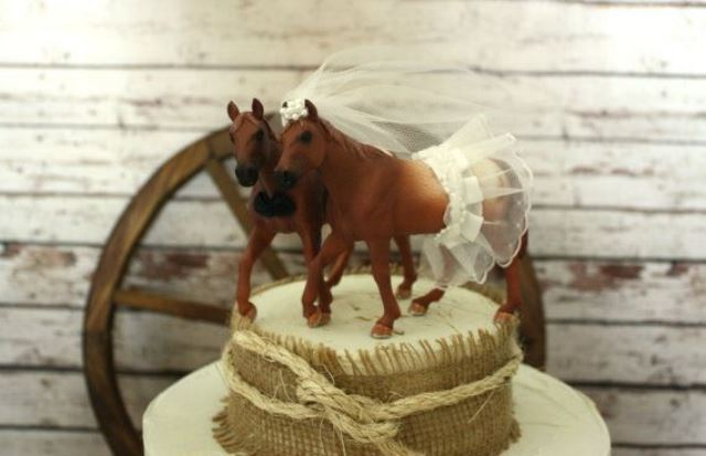 rustic horses topper