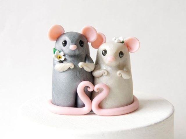 rustic mice topper