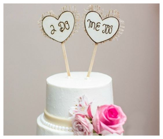 rustic wedding vow topper1