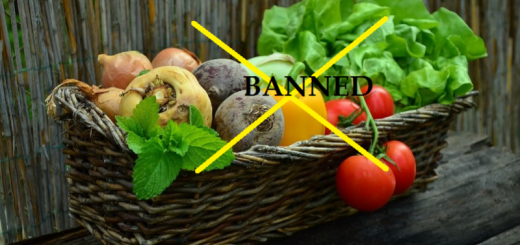 vegetables banned