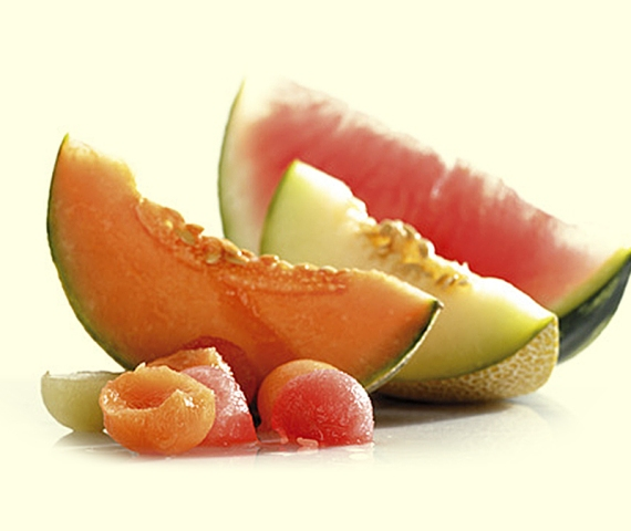 watermelon and cantaloupe