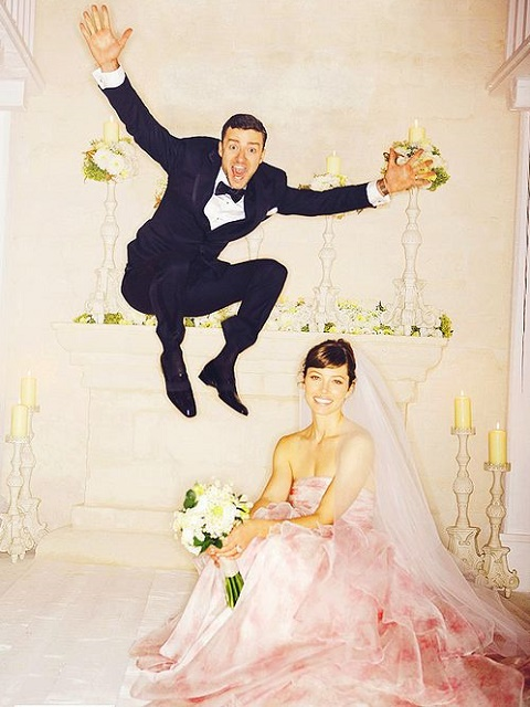 Justine Timberlake and Jessica Biel wedding