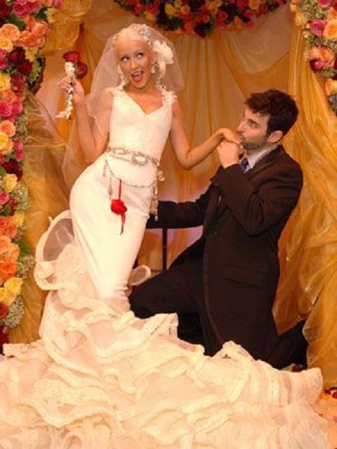 Christina Aguilera and Jordan Bratman wedding