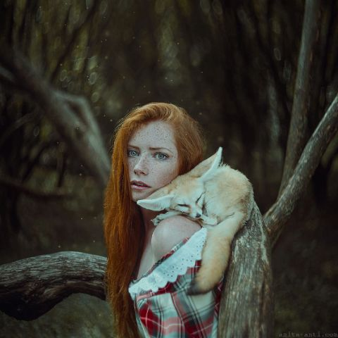 Anita Anti's fairytale photoshoot of women with animals