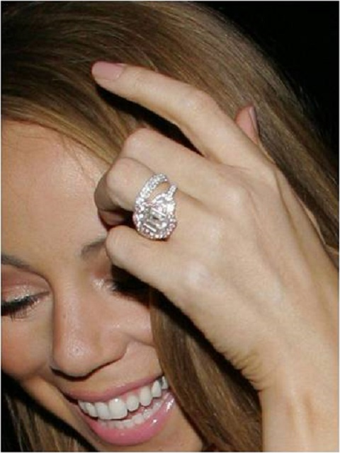 Emerald cut engagement ring celebrity tattoos