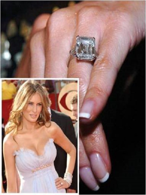 Melania Knauss Trump engagement ring