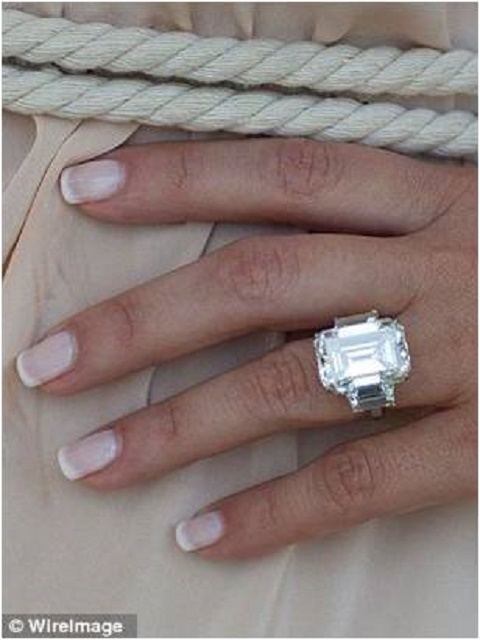 Kim Karadashian engagement ring