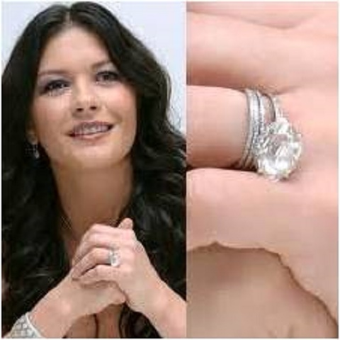Catherine Zeta-Jones engagement ring