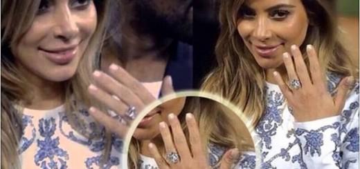 Kim Kardashian West engagement ring