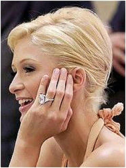 Paris Hilton engagement ring