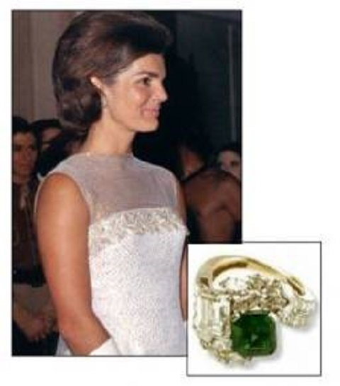 Jackie Kennedy Onasis engagement ring