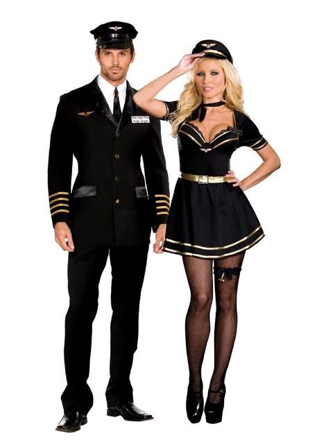 couple airline pilots