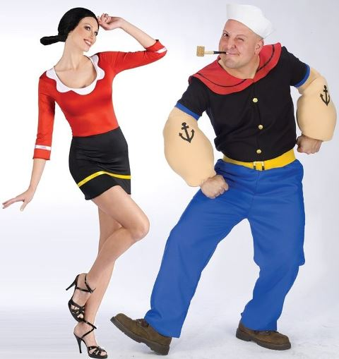couple popeye and olive