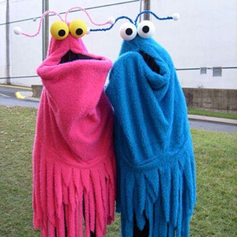 couple sesame street martians