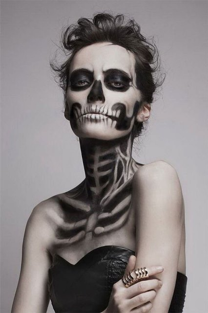 creepy x ray makeup