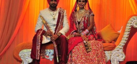 harbhajan singh and geeta basra at their wedding ceremony