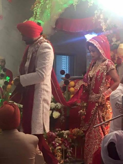 harbhajan singh and geeta basra at their wedding ceremony1