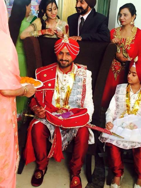 harbhajan singh during his wedding ceremony