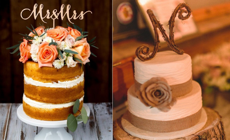 20 Rustic Wedding Cakes For An Intimate Affair | New Love Times