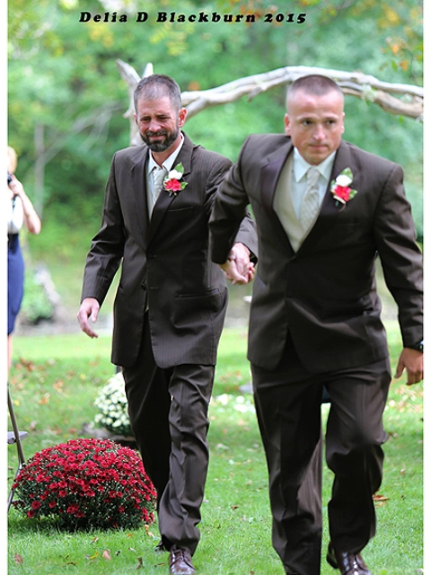 Todd Bachman leading todd Cendrosky (stepfather) to the aisle