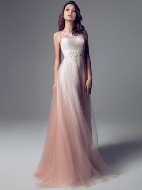 15 blush wedding dresses to make you blush new love times blush wedding dress blumarines blushing peachnewlovetimes junglespirit Choice Image