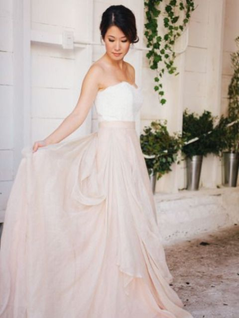 blush wedding dress free spirited boho style_New_Love_Times