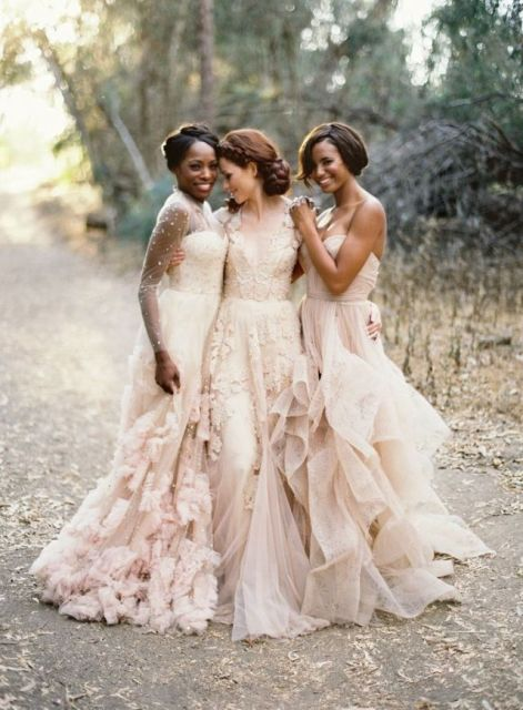 Images Of Blush Wedding Dresses : Blush wedding dresses that will make you with pleasure
