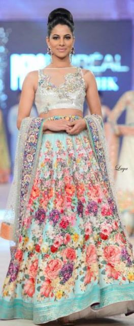 bridal lehengas delicately flowery_New_Love_Times