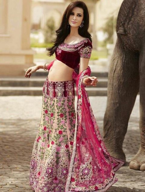 bridal lehengas mesmerizing maroon_New_Love_Times